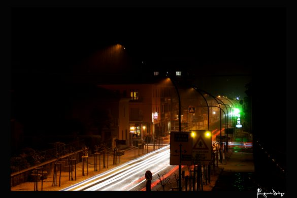asfalto,luci & neve